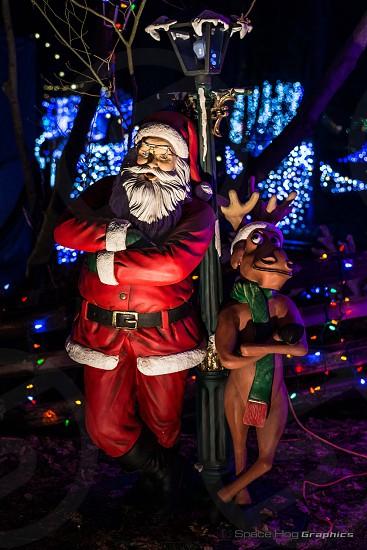 Santa & Rudolph chillin' photo