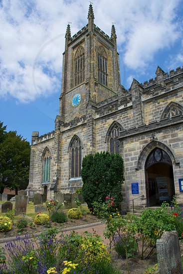 EAST GRINSTEAD WEST SUSSEX/UK - JUNE 17 : St Swithun's Church in East Grinstead on June 17 2017 photo