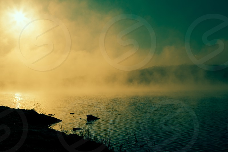 fog on water photo