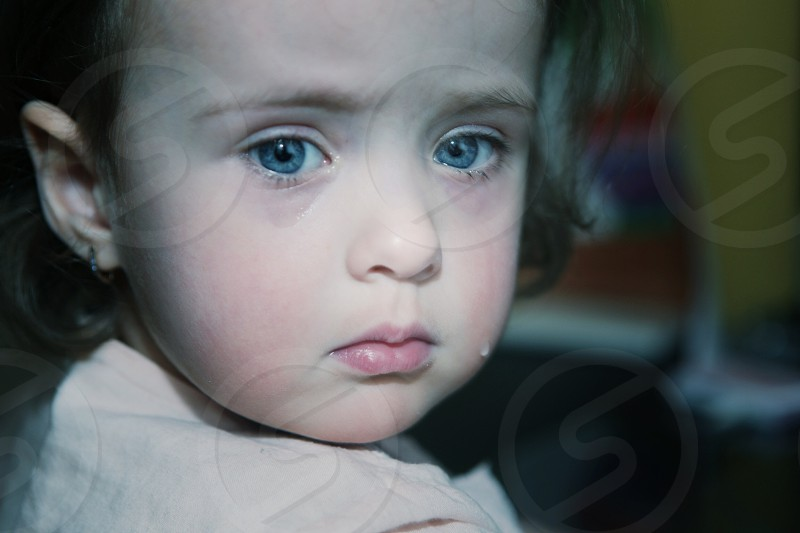 Moody people. Child. Kid.  photo