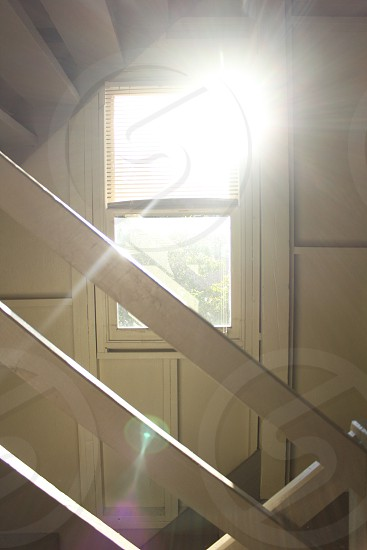 stairs window light lens flare photo