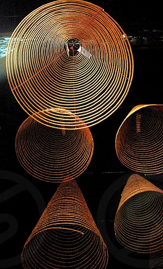 zen spiral incense buddhism photo