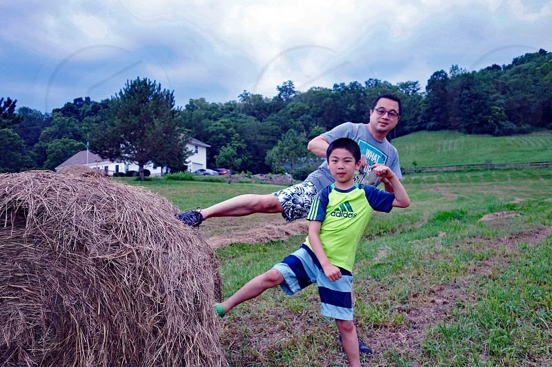 Asian Chinese Taiwanese people family fun farm people ETHNICITY photo