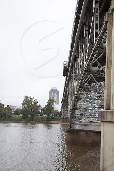 Bridge over Red River in Shreveport Louisiana photo