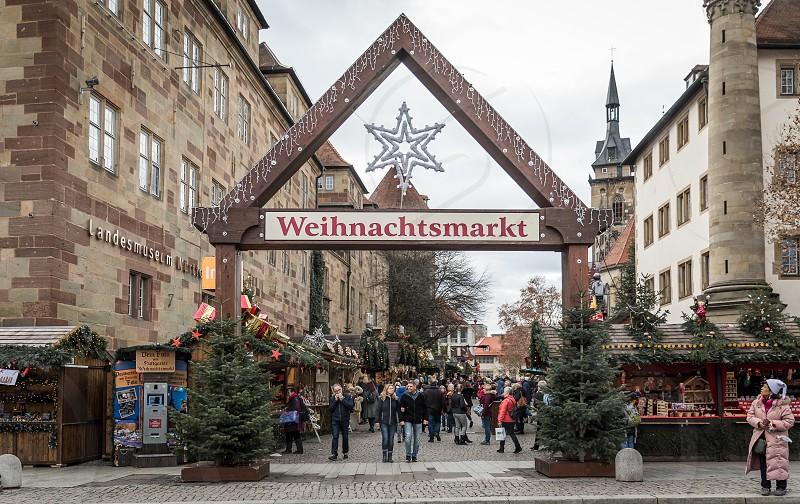 Stuttgart city impressions in the festive christmas season photo