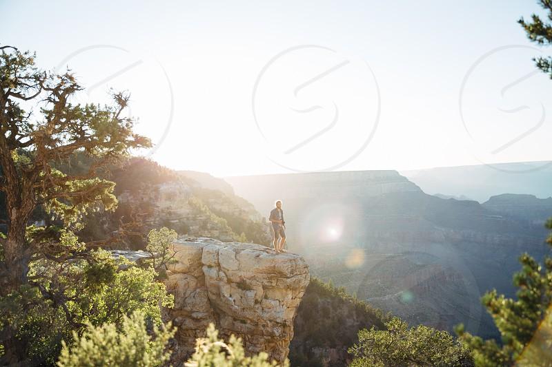 Grand Canyon portrait big place little person minimalist travel sunset photo