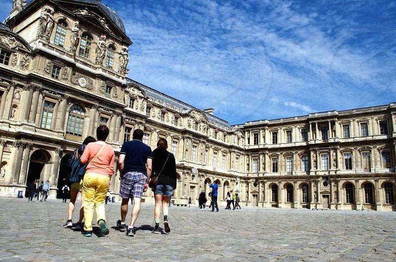 Visiting Paris and the Louvre - Paris France.  photo