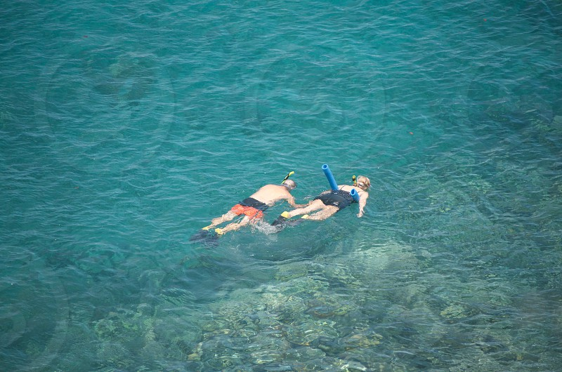 Snorkelling together photo