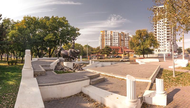 Odessa Ukraine - 10.20.2018. Abduction of Europa Monument in Odessa Ukraine photo