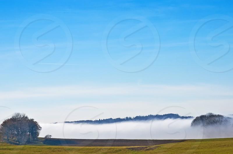 high fog in autumn photo