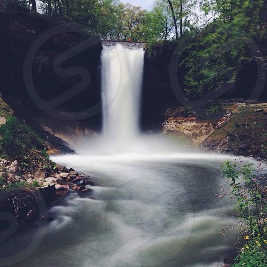 Minnehaha Falls Minneapolis.  photo