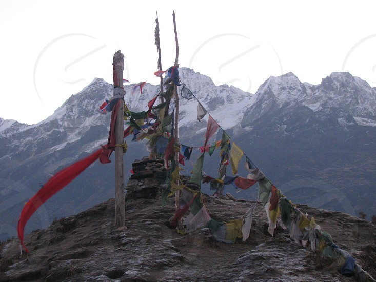 Hiking at the height of 15000 feet at Dzongri La was Awesome experience.very windy on the pass in Sikkim. photo