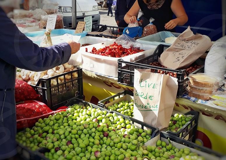 Street market shopper photo