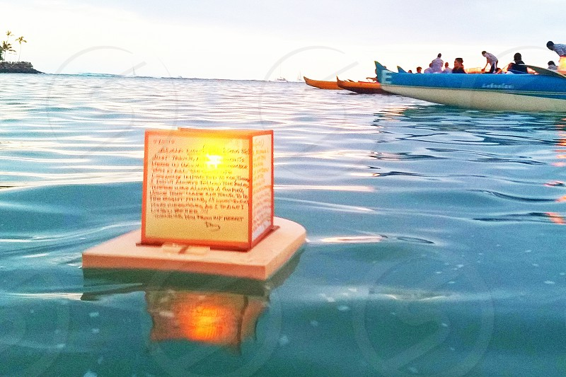 The Memorial Day Lantern Floating Ceremony in Honolulu Hawaii. photo