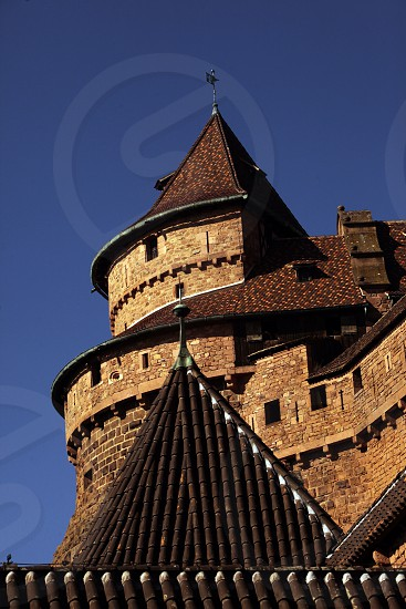 the Fort  Haut-Koenigsbourg near the village of Selestat  in the province of Alsace in France in Europe photo