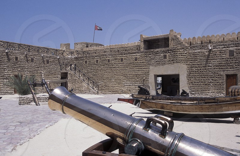 the Al Fahidi Fort in the old town in the city of Dubai in the Arab Emirates in the Gulf of Arabia. photo