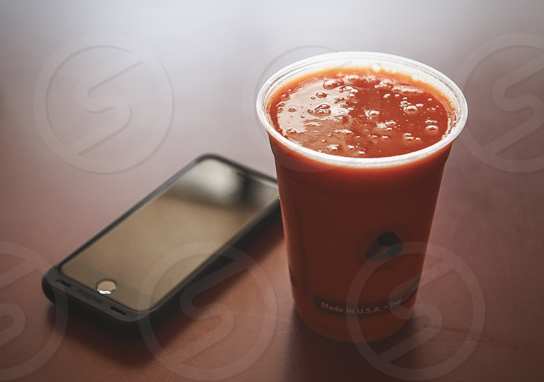juice smoothie orange healthy health fresh blend blended cup cold drink fruit vegetable iphone photo