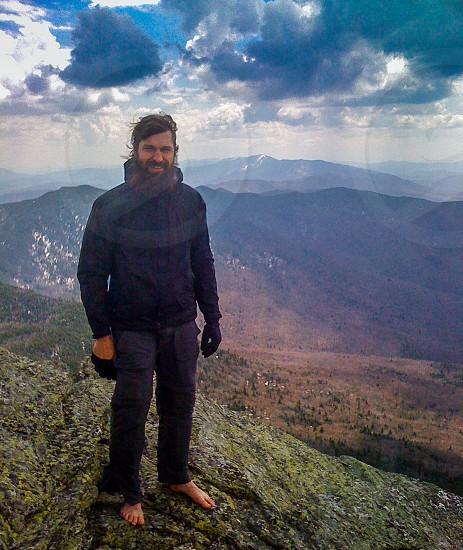 mountain man on a mountain photo