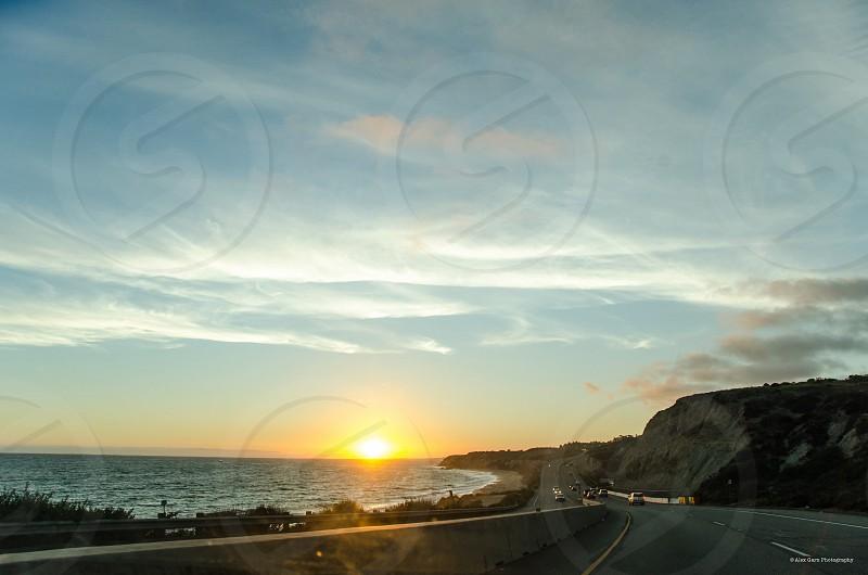 Sunset ocean beach beauty California nature photo