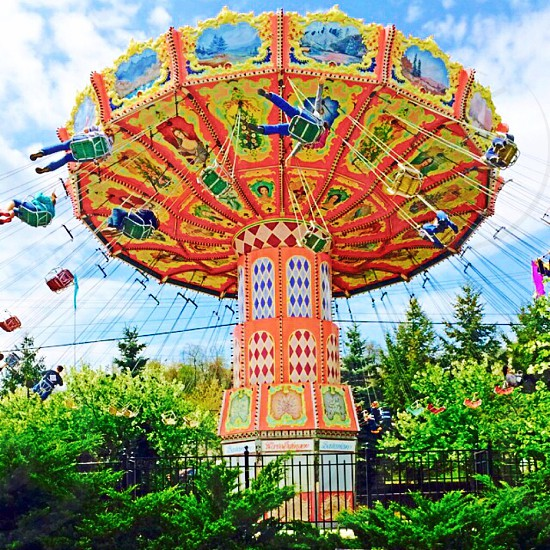Photo taken in May 2014 at Kennywood Park in Pittsburgh PA. The ride: Waveswinger photo