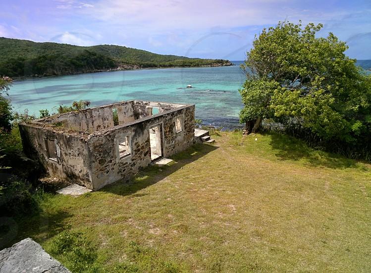 House ruins on St. John USVI photo
