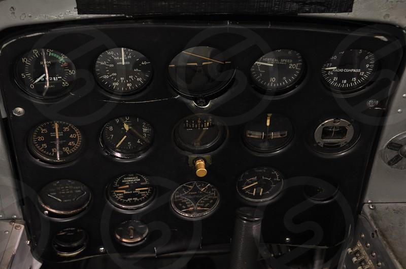 black plane dashboard photo
