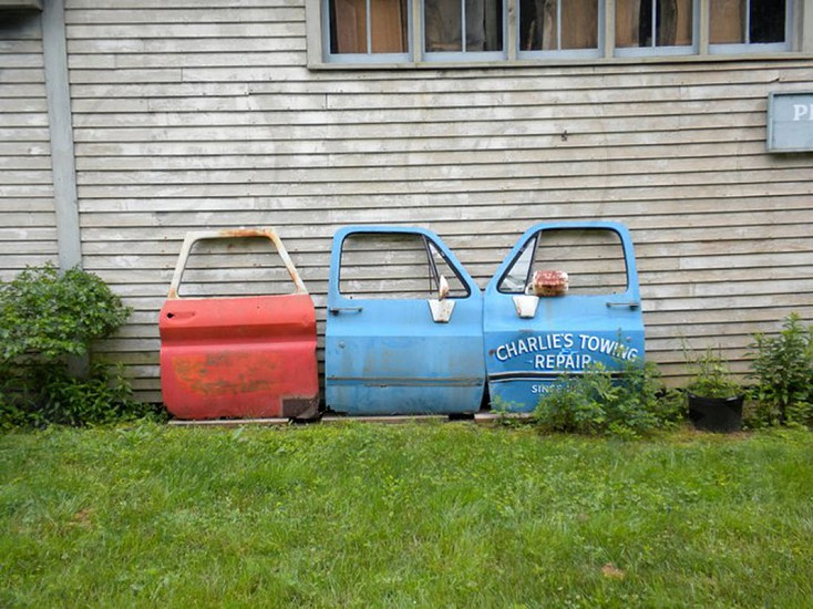 Vintage doors in Deer Isle Maine photo