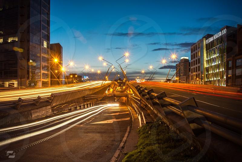Bogotá night lights photo