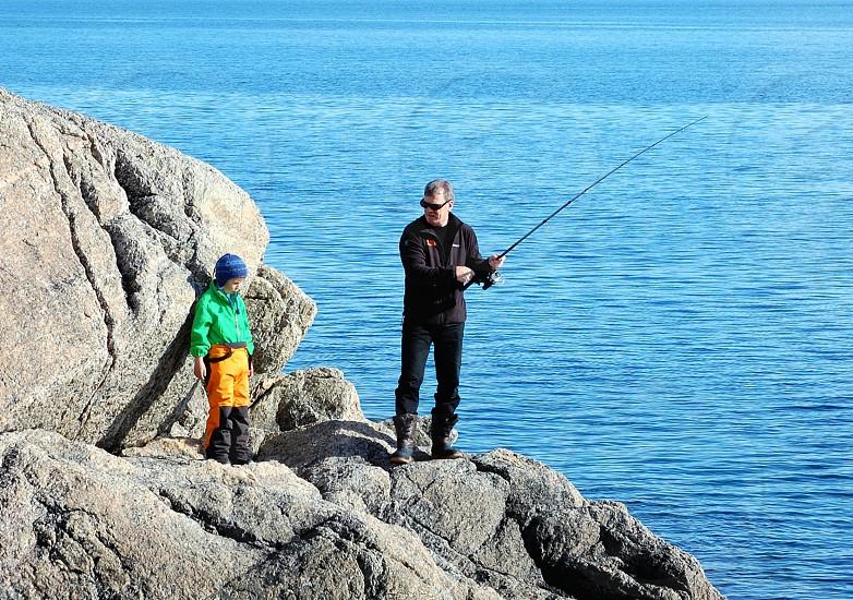 2 men fishing photo