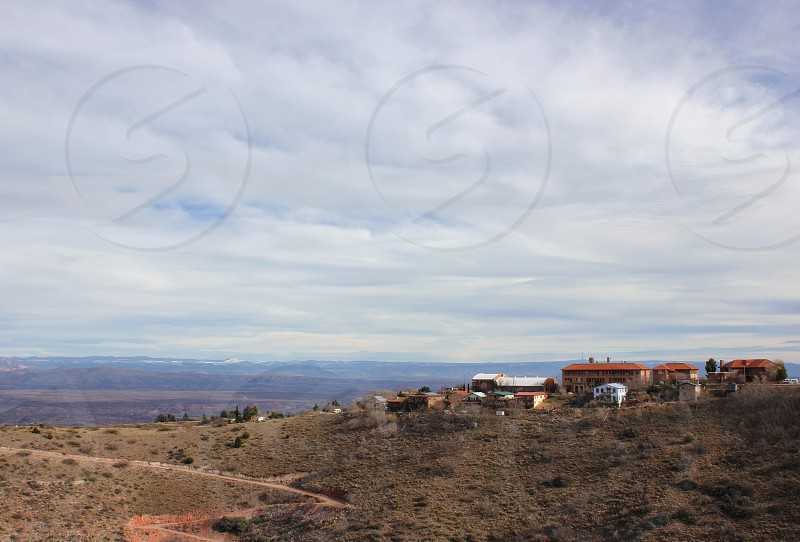 Cloudy day in Jerome Arizona USA photo
