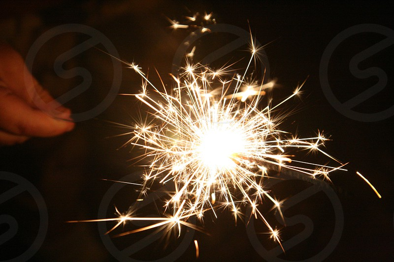 white sparkler photo