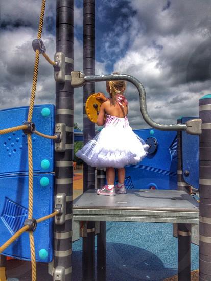 My daughter at the playground. photo