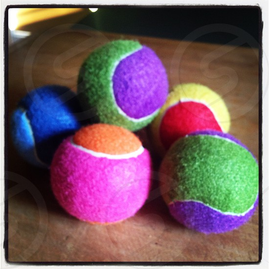 Colored balls photo