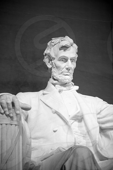 statue of abraham lincoln at the lincoln memorial washington dc photo