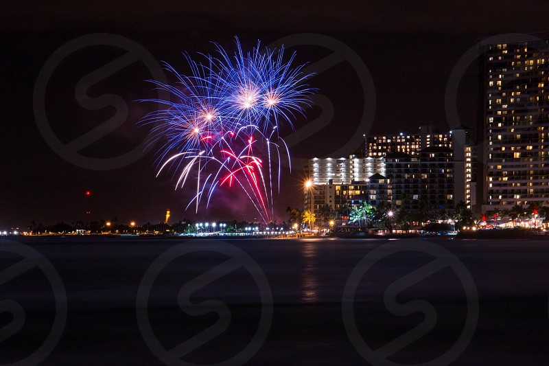 Friday Night Fireworks in Waikiki photo
