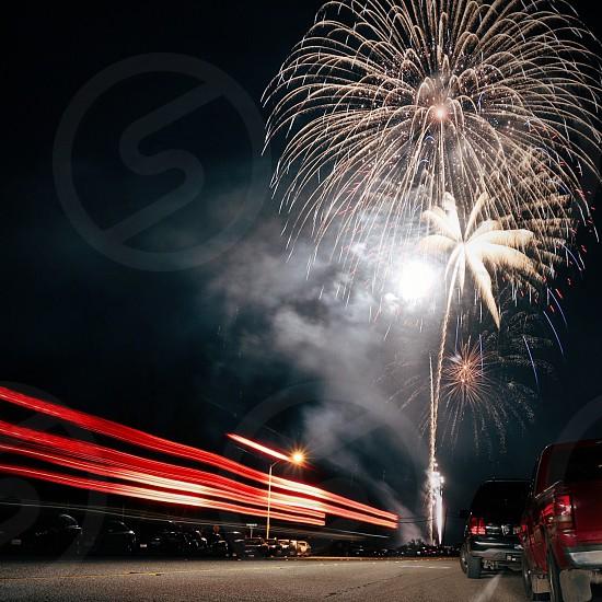 white fireworks photo