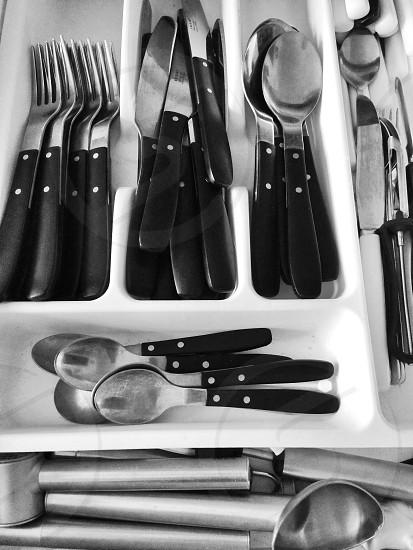 stainless steel cutlery utensils photo