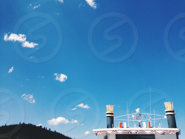 Old steamboat in Lake Tahoe photo