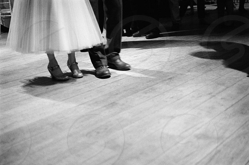 wedding feet shoes dress photo