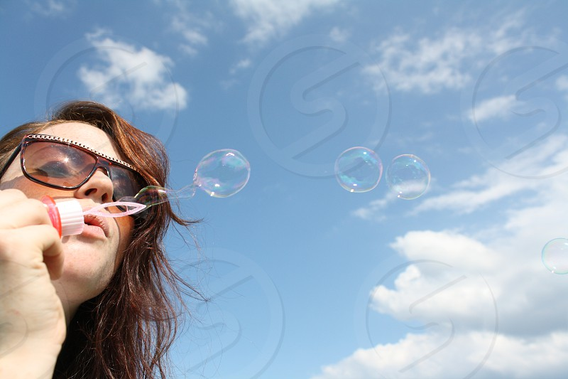 Bubbles in the summer photo