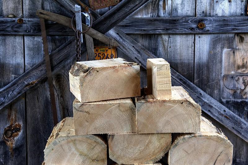 Wood against wood photo