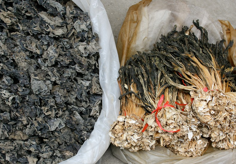 Dried seaweed in a market in Nanning China photo