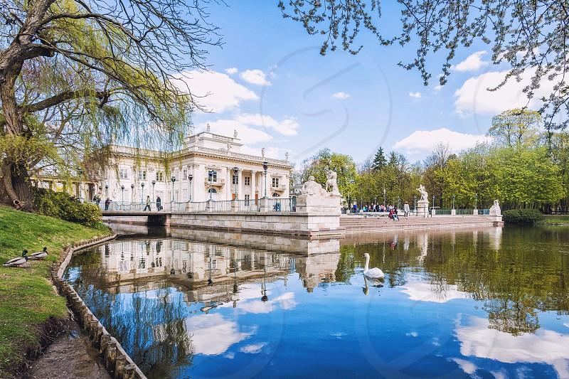 Palace on the Isle in Łazienki Park Poland photo