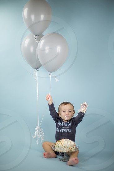 Baby Boy Cake Smash photo