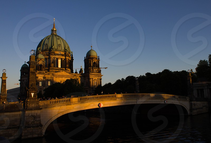 Berliner Cathedral at sunset photo