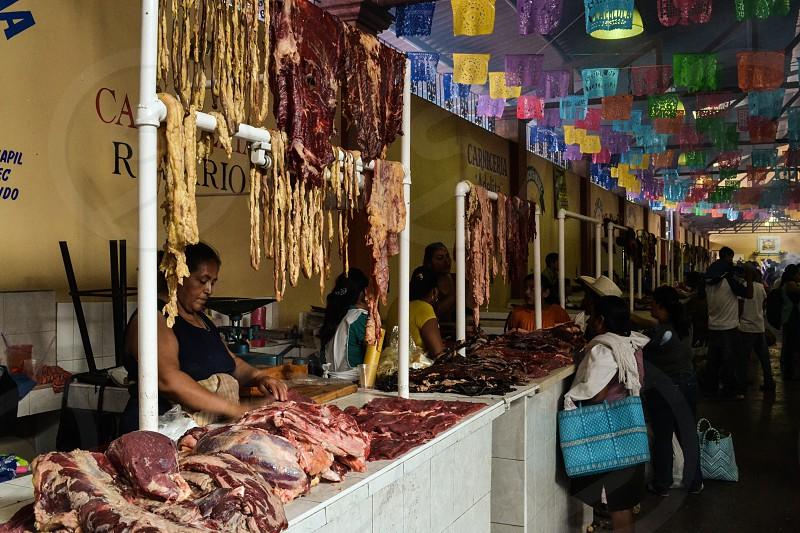 Carniceria in Oaxaca Mexico photo