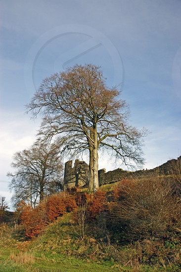 KENDAL.  The castle childhood home of the last of Henry VIII's wifes sits on the hill overlooking the town.  photo