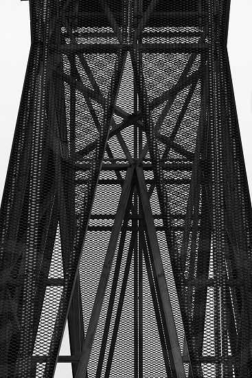 Billboard Construction Lines Moiré Lines Geomatrical B&W Black and White Metal Steel Repetitive Construction Pattern photo