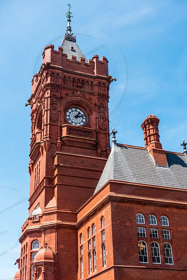 CARDIFF/UK - JULY 7 : Close up view of the Pierhead Building in Cardiff on July 7 2019 photo