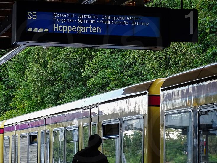 Waiting for train Berlin Germany photo